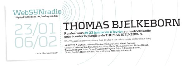 webSYNradio SYN-flyer157-BJELKEBORN-fra600 Thomas BJELKEBORN : hommage à la tradition texte/son suédoise Podcast Programme  Revue Droit de cites