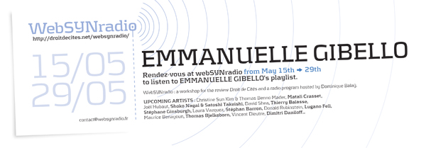 webSYNradio SYN-flyer165-GIBELLO-eng600 Emmanuelle Gibello : un programme fleuve et chaotique Podcast Programme  Revue Droit de cites
