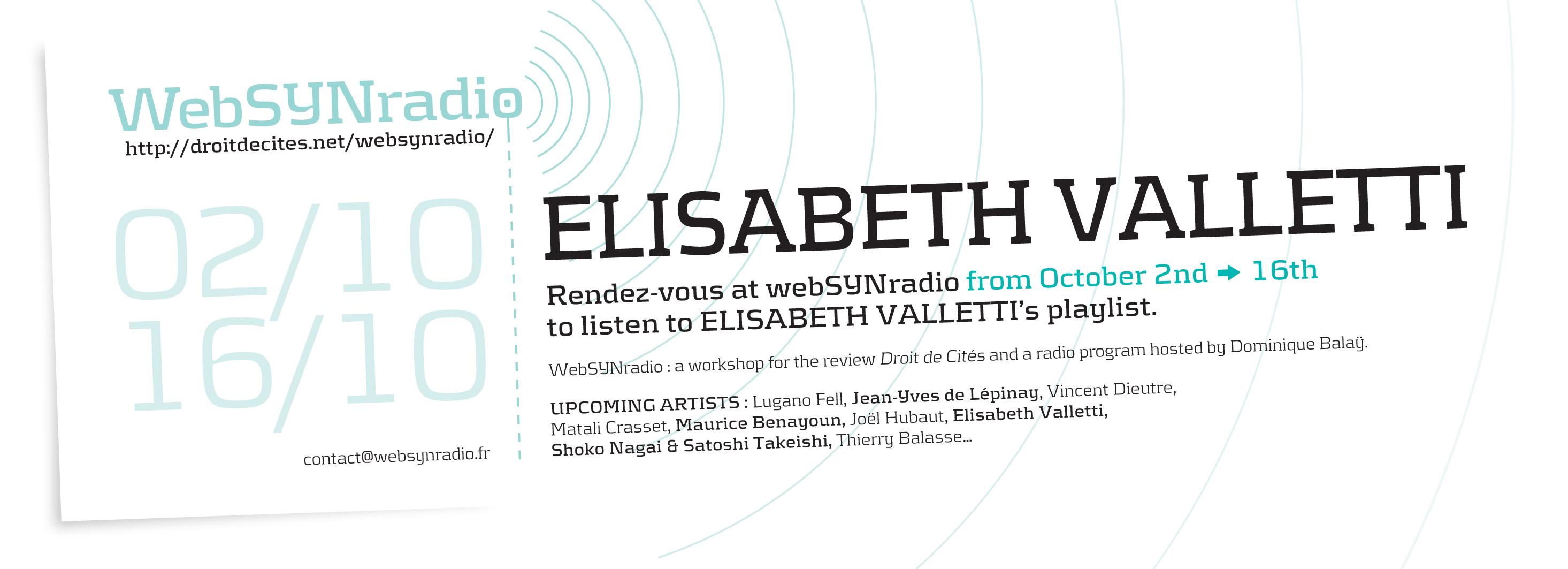 webSYNradio flyer168 Elisabeth Valletti eng Actus