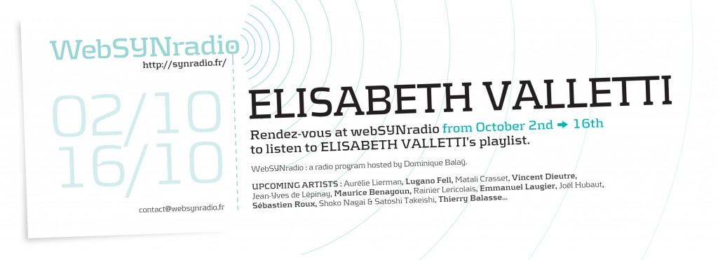 webSYNradio webSYNradio-flyer168-Elisabeth-Valletti-eng2-1024x371 Une mise en onde de Elisabeth Valletti Podcast Programme
