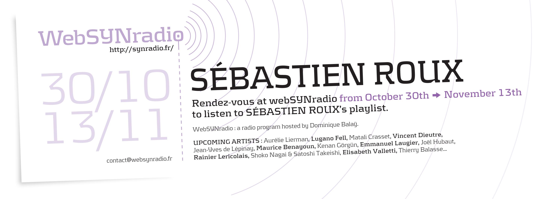 webSYNradio flyer170 Sebastien Roux eng Actus