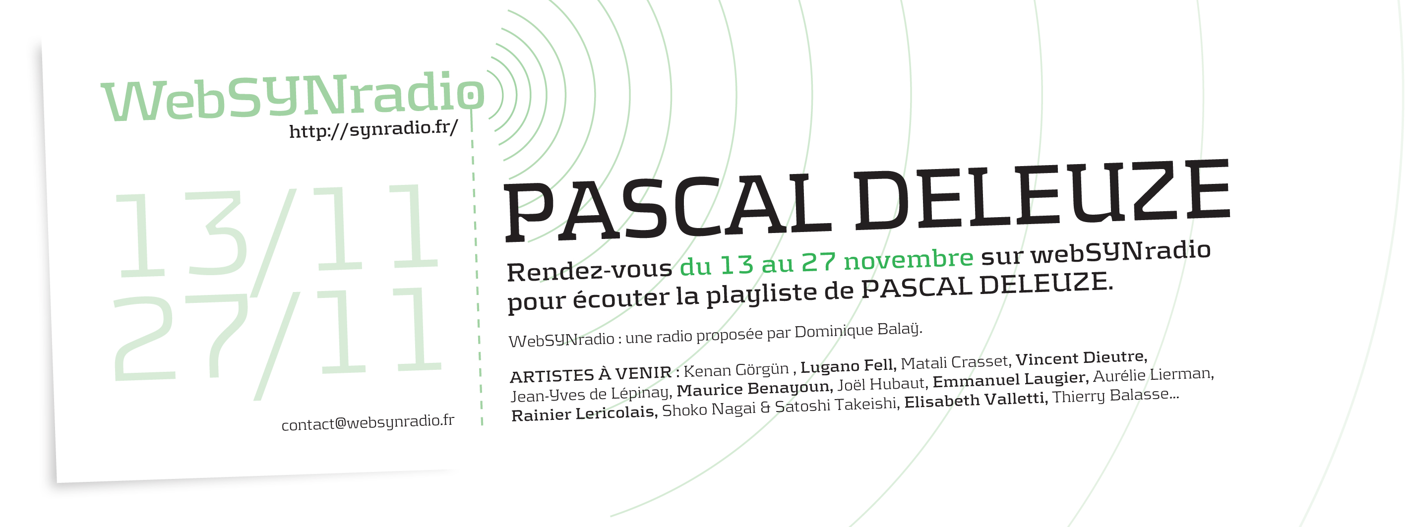 SYN flyer171 Pascal Deleuze fra Actus