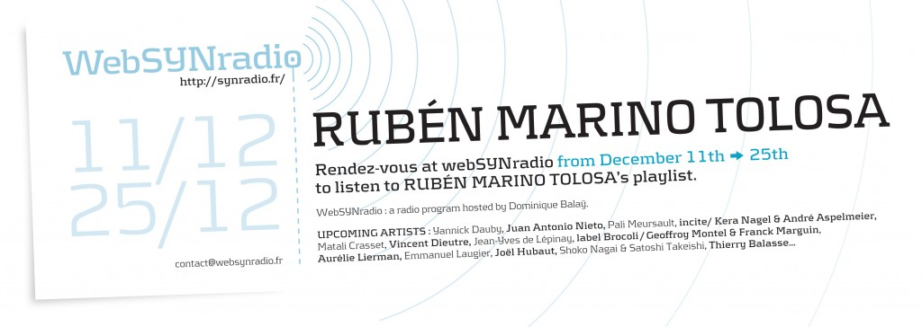 Playlist – Rubén Marino Tolosa to WebSYNradio – 2014
