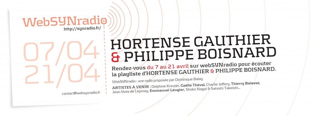 HORTENSE GAUTHIER & PHILIPPE BOISNARD websynradio