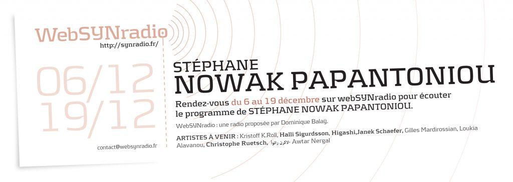 Stéphane Nowak Papantoniou websynradio poesie action