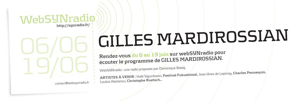 Gilles MARDIROSSIAN webSYNradio