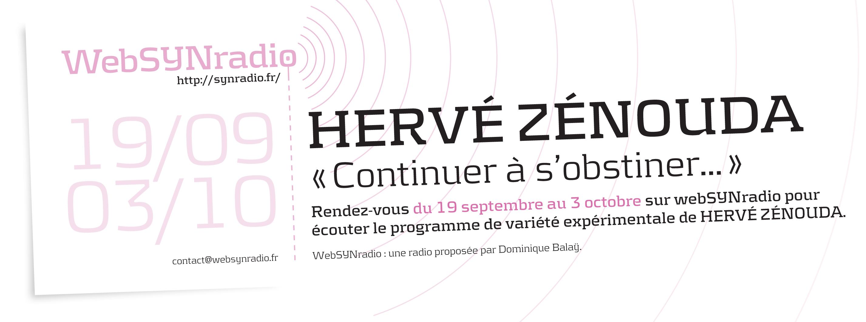 webSYNradio flyer Herve ZENOUDA