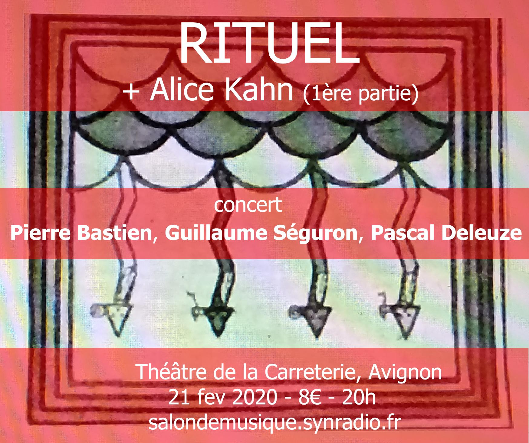 webSYNradio rituel2_master_recto Concert Pierre Bastien, Guillaume Séguron, Pascal Deleuze News