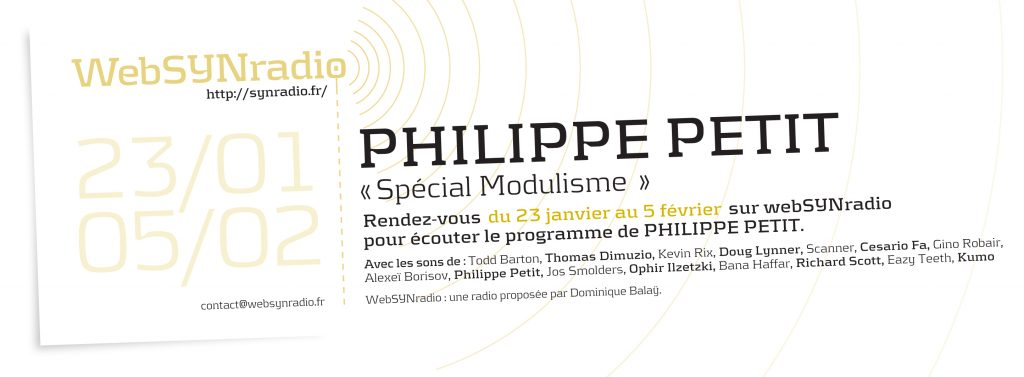 webSYNradio SYN-flyer-275-Philippe-PETIT-1024x377 Philippe Petit, Spécial MODULISME Podcast Programme