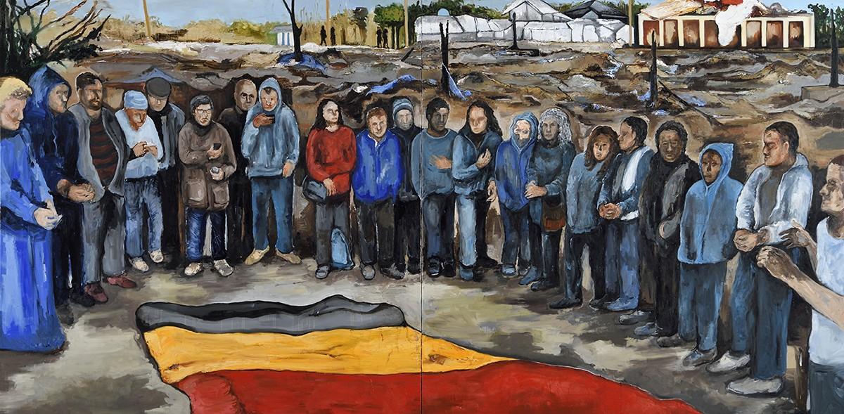 Fred-Kleinberg-Odyssee-Le-22-Mars-2016-Jungle-2016-Huile-sur-toile-200x400-cm
