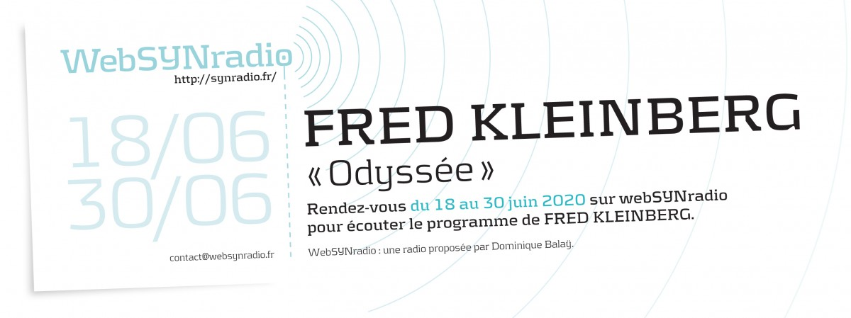 webSYNradio SYN-flyer-278-Fred-KLEINBERG Actus